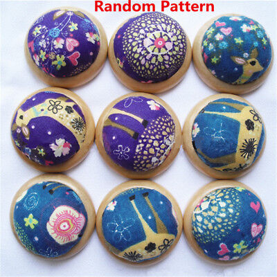 Wood Base Needle Pin Cushion Pillow Needles Holder Sewing DIY Craft Accessories