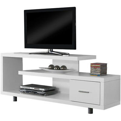 Merveilleux Modern Entertainment Center Tv Stand White Console Furniture Home Media  Storage