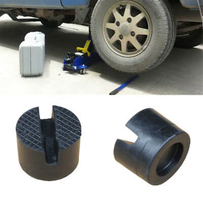 1Pc 5cm Universal Slotted Frame Rail Floor Jack Guard Adapter Lift Rubber Pad