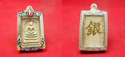 Ancient Phra Somdej Back Chinese Letter Lp Toh Wat Rakhang Thai Amulet Buddha