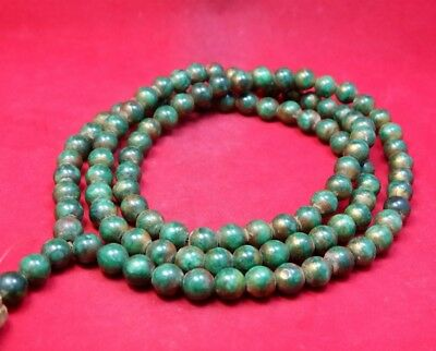 Necklace 108 Buddhist Prayer 0.9Mm Bead Mala Anitiques Jade Thai Amulet