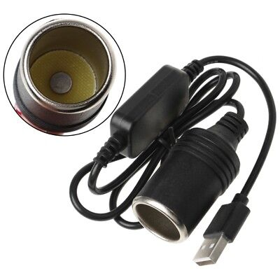 USB 5V To 12V Car Cigarette Lighter Socket Female Power Adapter Converter Cable