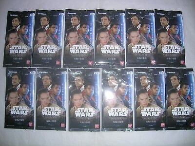 STAR WARS TRADING CARD BATTLE.BANDAI CARDDASS.SW-02.BOOSTER PACK LOT x 12.