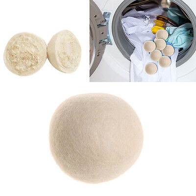 1/3Pcs Reusable Sheep Wool Dryer Ball Organic Natural Laundry Fabric Softener