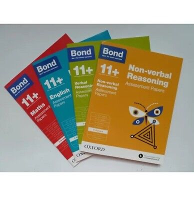 Bond 11+ Assessment Papers English Maths Verbal Non-verbal  reasoning 7-8 Years