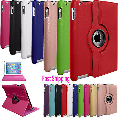 Leather 360° Rotating Stand Case Cover Fits Apple iPad 5 6 Air, 234 Mini Pro 9.7