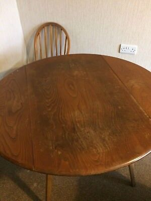 Vintage  Ercol Drop Leaf Dining Table and 4 chairs
