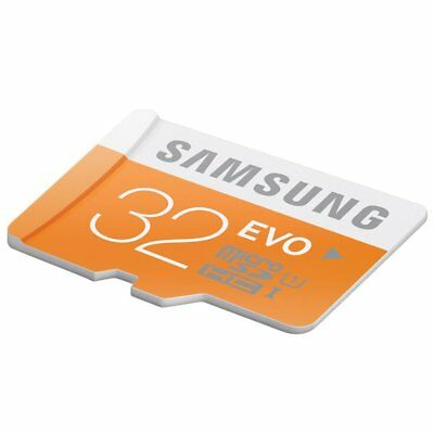 32GB Samsung  EVO 48MB/s MicroSD SDHC UHS-I Class 10 Memory Card Retail package