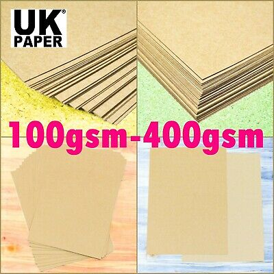 A5 A4 A3 Brown Kraft Card Decoupage Paper Gsm Craft Making Blanks Stock Supplies