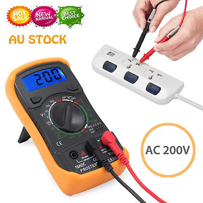 Electrical LCD Digital Multimeter DC Current AC/DC Voltage OHM Multi Tester AU