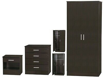 NEW Nebula 3 Piece Bedroom Furniture Sets Wardrobe Bedside Chest of Drawers