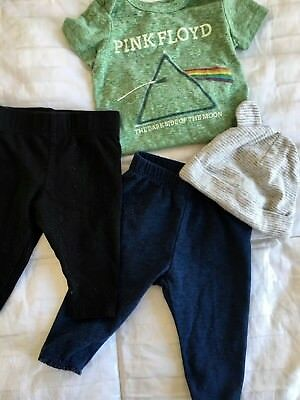 New born bundle Pink Floyd romper legging
