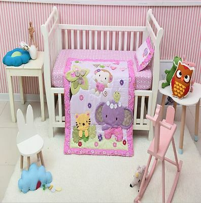 Blossom Tails  Crib Bedding Sets Baby Girl Nursery Bedding Crib Cot Sets Quilt