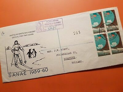 SOUTH AFRICA 1959  FDC  First South African ANTARTIC expedition.SANAE 1959-60