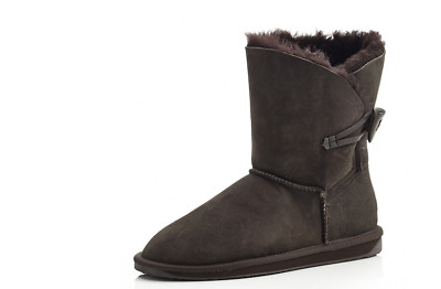 Emu Daley Lo Water Resistant Sheepskin Boots Chocolate UK 6 EU 39 New & Boxed
