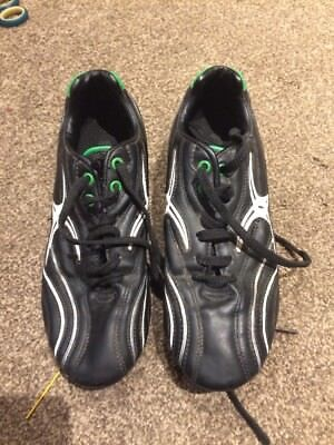 Gilbert Rugby Boots - Black/Green - UK Size 7