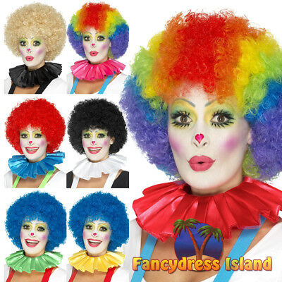 Clown Neck Ruffle Circus Mens Womens Fancy Dress Costume Accessory