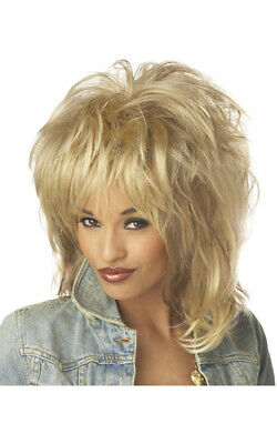 Adult Womens Blonde 1980S Dolly Parton Wig Tina Turner Costume Accessory