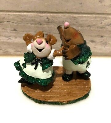 Wee Forest Folk Do-si-do MMO-2 St. Patrick's Day Limited Edition Mouse & Mole