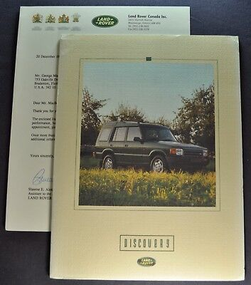 1995 Land Rover Discovery Catalog Brochure + Letter 4x4 Excellent Original 95