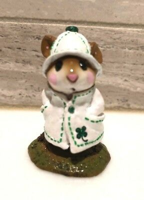 Wee Forest Folk April Showers Limited Edition 2003 St. Patrick's Day w/Shamrock