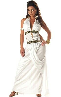 Sexy Spartan Queen Roman Toga Adult Womens Fancy Dress Costume