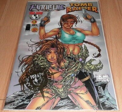 Witchblade Tomb Raider (1998) 1/2 #1DFGOLD...Pub Dec 1997 by Top Cow.LTD to 2500