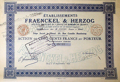 Etablissements Fraenckel & Herzog S. A., 4. Sept. 1925