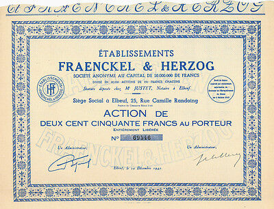 Etablissements Fraenckel & Herzog S. A., 10.12.1943