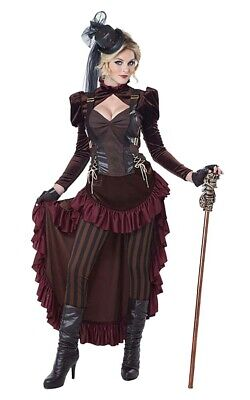 Victorian Steampunk Adult Womens Fancy Dress Halloween Costume