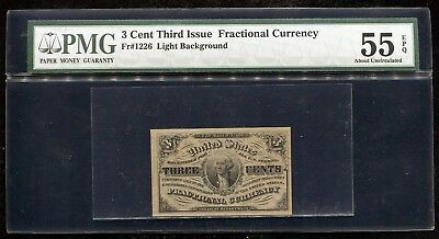Fr. 1226 3 Three Cents Third Issue Fractional Currency Pmg About Unc-55Epq