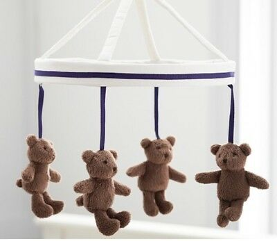 Pottery Barn Baby Kids Teddy Bear Harper Nursery Mobile NEW