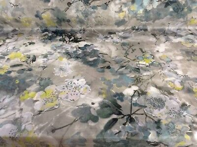 Hana Mazumi Grey  Super Soft Velvet Fibre Naturelle Curtain/Upholstery Fabric