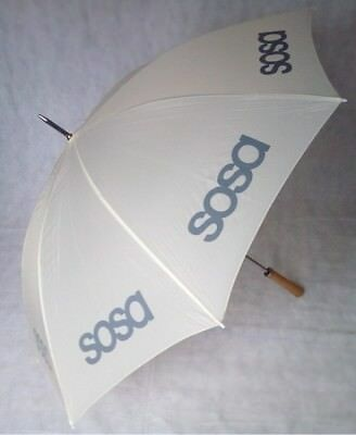 Big Golf Umbrella with Wind Resistant Double Ribs in Off-White