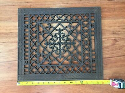 Antique Victorian Cast Iron Floor Air Heat Grill Grate Register Ornate 16 X 14