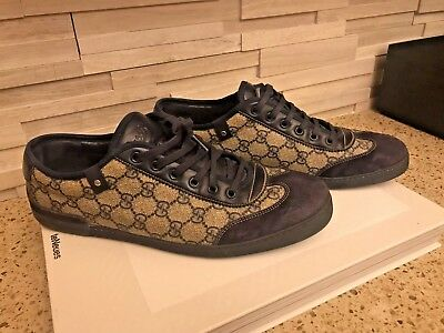 02fc4b6e40c Gucci Men s sneakers classic GG monogram shoes suede leather size 10.5  G 11.5 US