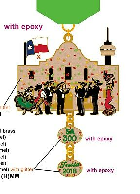 Fiesta 2018 Medal  SA 300 ALAMO MARIACHIS  -READ FULL DESCRIPTION