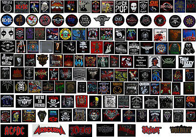 HEAVY METAL ROCK PATCHES death patch metallica maiden motorhead slayer dio roses