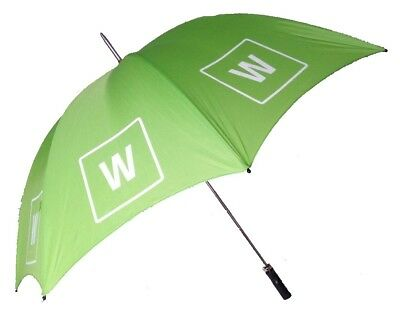 Golf Umbrella with Windproof Double Ribs in Green with Branding