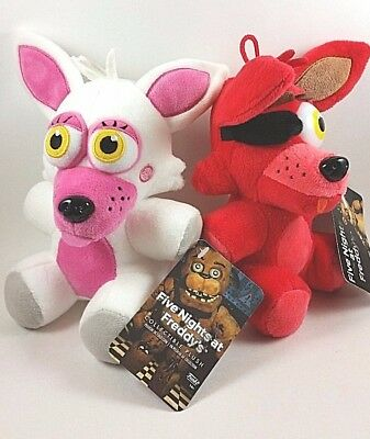 Five Nights at Freddys FNAF Funko Fun Time Foxy Mangle and Foxy Plush Toy Set