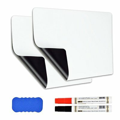 "2 X 17"" x 12"" Refrigerator Dry Erase Magnetic Message Flexible Blank White Board"
