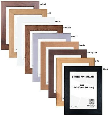 "Wood Effect Maxi Poster Frame - 61x91.5cm / 24x36"" - Various Colours"