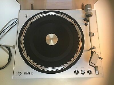 Philips 212 electronic turntable w/shure M91ED cartridge easy restoration/parts