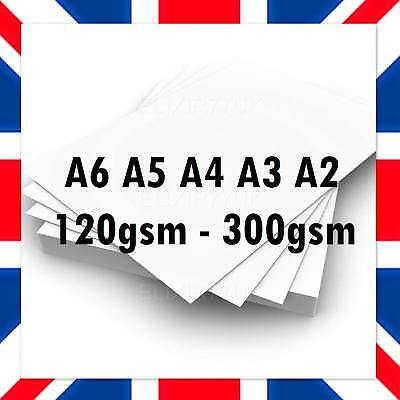 A2 A3 A4 A5 A6 White Card Making Thick Paper Printer Copier Sheet Craft Supplies