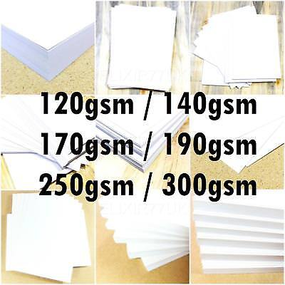 A6 A5 A4 A3 A2 WHITE CARD STOCK SCHOOL PAPER SHEET ART CRAFT MAKING 120- 300 gsm