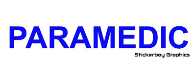 PARAMEDIC sticker medical RESCUE first aid event car sign REFLECTIVE BLUE or RED