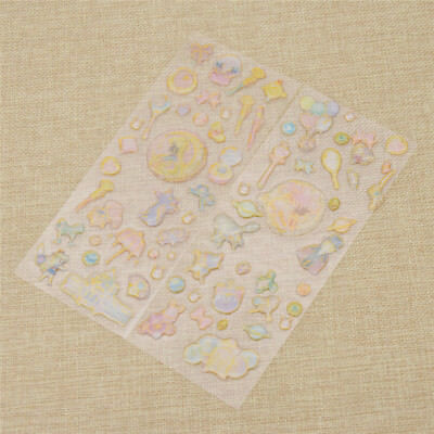 Japanese Anime Sailor Moon Stickers Transparent Scrapbooking Decor Stationery