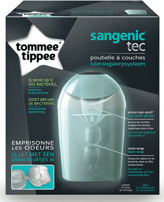 Poubelle à couches Tommee Tippee TEC Sangenic - vert
