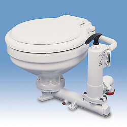 TMC Manual Sea Toilet Compact Porcelain Bowl for Boat, Narrowboat, Yacht etc