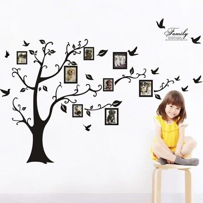Family Tree Photo Frame Wall Decals Removable Wall Decor Decorative baby room